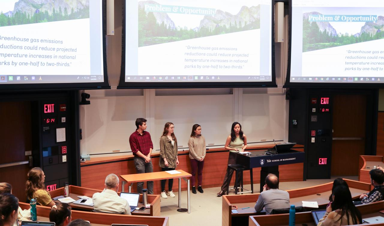 Students pitch idea at final showcase